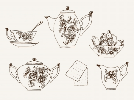belonging: objects belonging to the tea set