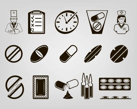 medications. set of vector icons Stock Vector - 20879157