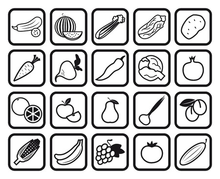 vegetables  ingredients for cooking Vector