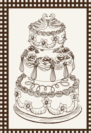 torte: celebratory cake Illustration