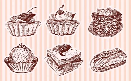 confectionery  set of vector sketches Vector