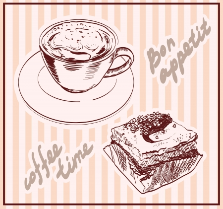 coffee time  set of vector sketches Vector