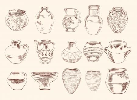 archaeological: hallazgos arqueol�gicos jarrones y jarras