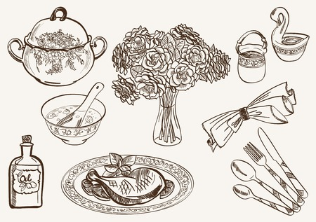 produced: simple rustic dishes from products produced on hunting and gathering