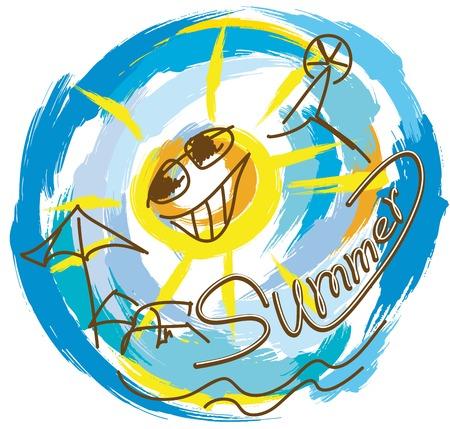 good mood: abstraction on summer vacation and good mood Illustration