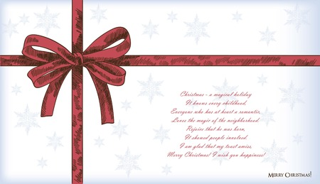 christmas bow: gift ribbon bow beautifully collected. vector illustration Illustration