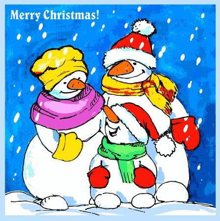 merry mood: Christmas greeting card