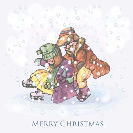 victorian christmas: Christmas greeting card