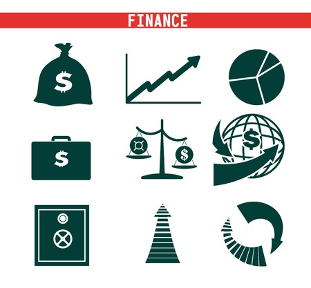 recurrence: Economics and Finance vector black icon on white background