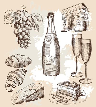 bottiglia di spumante e snack bottiglia di opzioni vino e spuntini spumanti