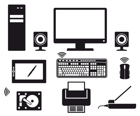 computer Icons vector black icon on white background Vector