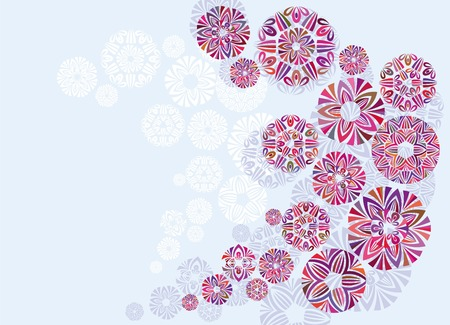 amazing wallpaper: Abstract colorful background from a flower like elements vector illustrations