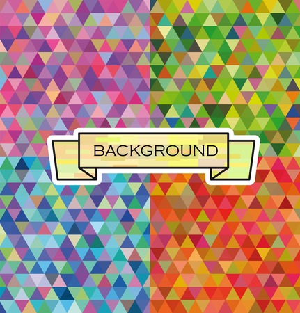 amazing wallpaper: abstract background set of four samples of different colors Illustration