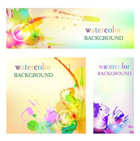 color mixing: watercolor background color colorful bright succulent unique