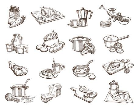 열 여섯 블랙 아이콘 음식과 주방의 이미지로 설정