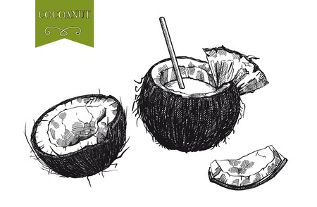 milk: cocktail of coconut milk and half a coconut