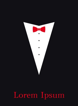 red bow: red bow tie. simple elegant vector background