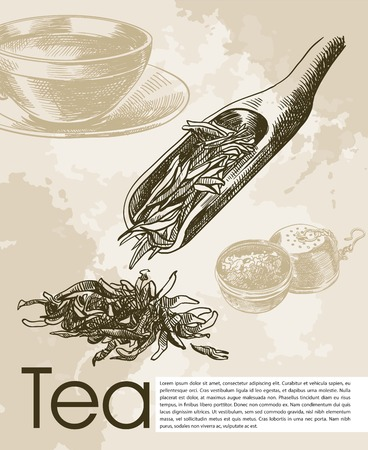 herbal tea: tea ceremony. beautiful background made by hand