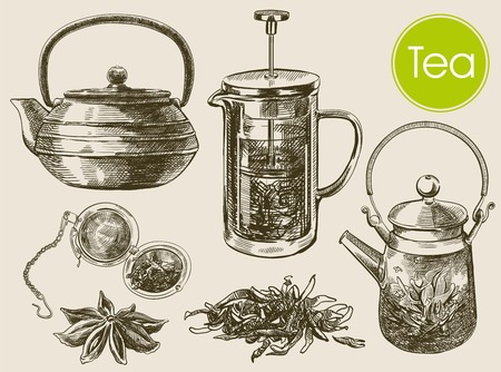 taza de té: Ceremonia del té. hermoso fondo hecho a mano
