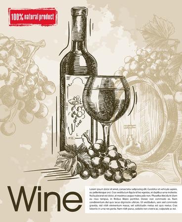 seasoned: tasting of vintage wines. beautiful background made by hand