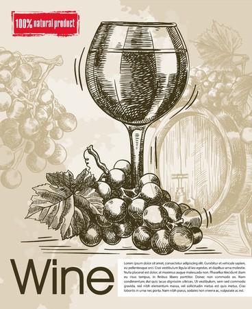 предмет коллекционирования: tasting of vintage wines. beautiful background made by hand
