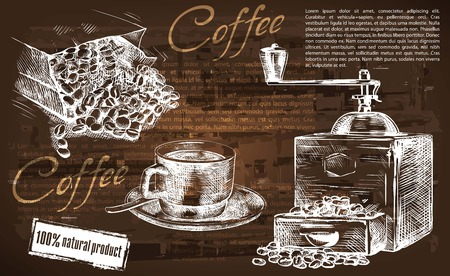 background coffee: cup of coffee. beautiful background made by hand