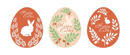 easter eggs: painted easter egg on a white background
