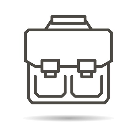 schoolbag: schoolbag flat icon on a white background