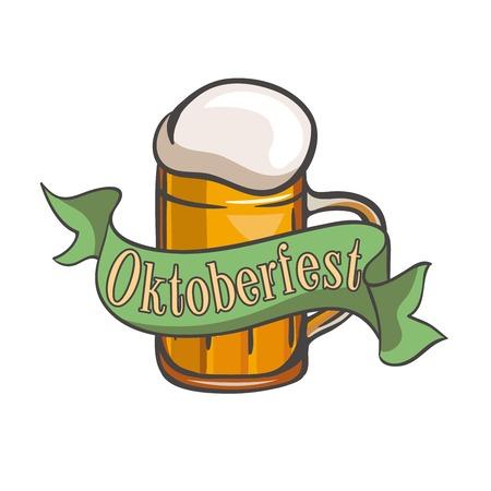 overflow: Mug of beer. Mug of ale. Pint of beer. Pint of ale. Festival. Oktoberfest. Cold beer. Mug of beer color. Mug of beer simple.