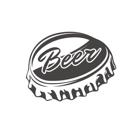 tapa de la botella de cerveza. Cerveza icono de la cápsula. Cerveza símbolo de la cápsula. Cerveza señal de la cápsula. Ilustración de vector