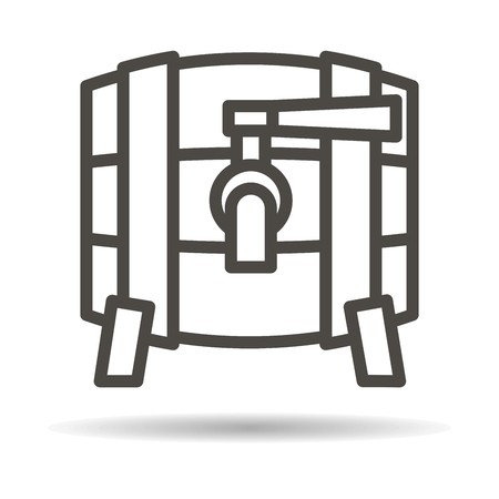 wooden barrel: Wooden barrel icon.