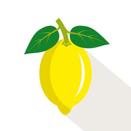 ripe: Lemon. Ripe, juicy fruit. Color vector illustration