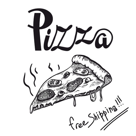 piece fragrant freshly prepared pizza