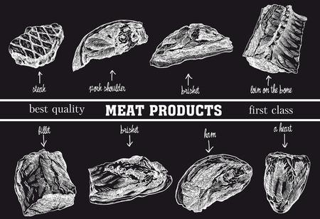 vleesproducten schetsen