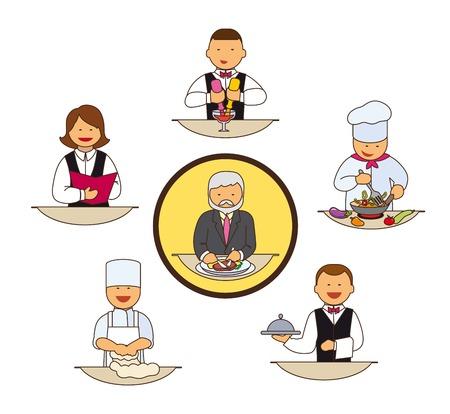 Catering staff. Restaurant team