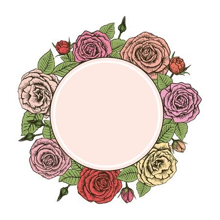 petal: Wreath of roses Illustration