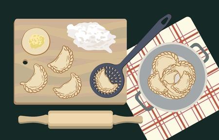 Ingredients for dumplings and their preparation
