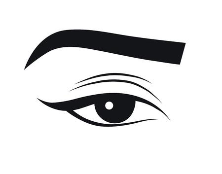 black and white vector illustration of the eye Stock Illustratie