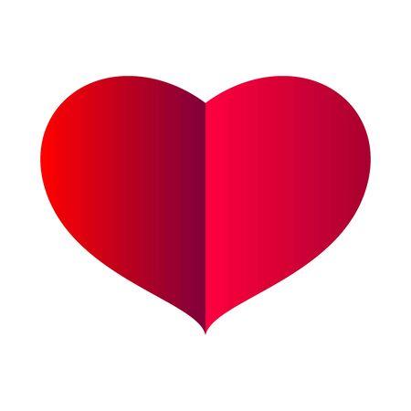 big red heart on white background. vector illustration Illustration