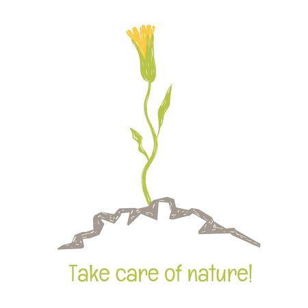 the power of wildlife. healing plants. color logo on a white