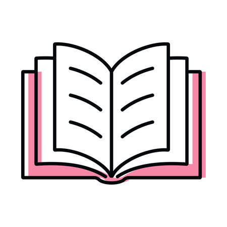 book. science and education color vector icon in flat style