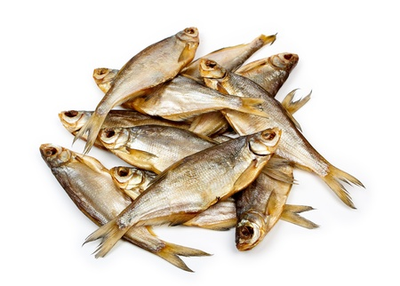 dry fish put in a heap