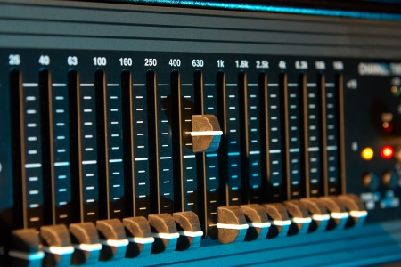 Graphic sound equalizer Stock Photo - 16062642