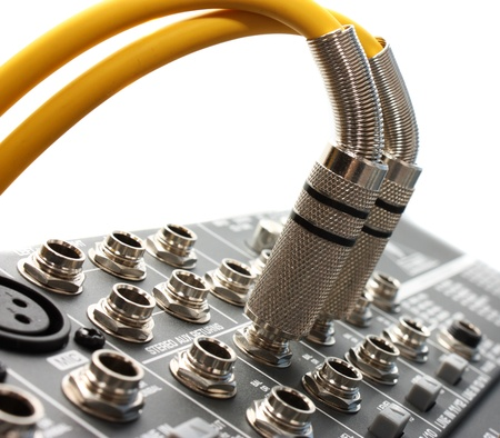 Two audio of a connector is connected Stock Photo