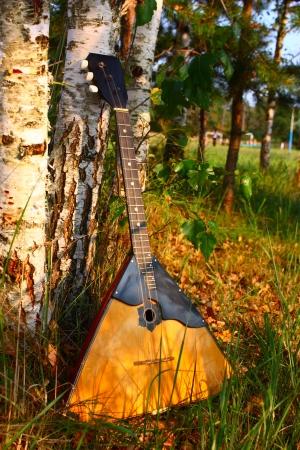 Russian national music instrument balalaika Stock Photo - 16134923