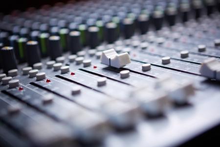 Sound mixer control panel photo