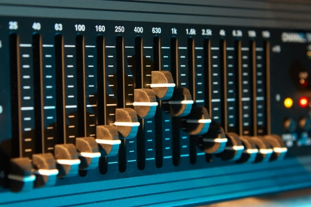 tecnology: Graphic sound equalizer Stock Photo