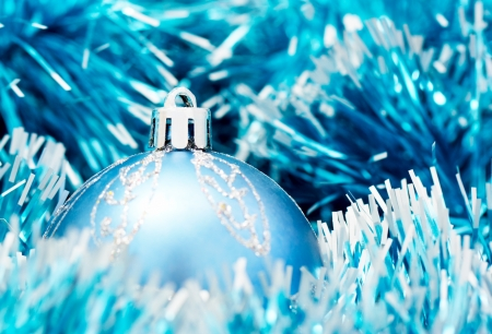Blue christmas ball Stock Photo - 16183176