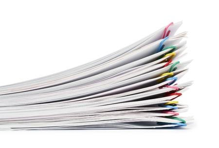 Single-sheet stationery and paper clips Zdjęcie Seryjne