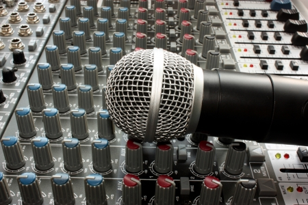 Professional vocal microphone photo